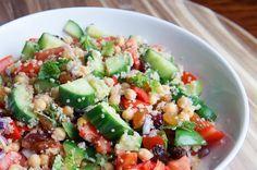 recept: quinoa tabouleh met kikkererwten