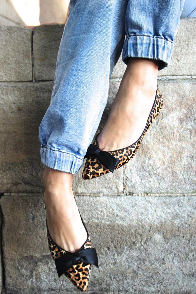 Image of Lu-Lu pointy ballet - leopard