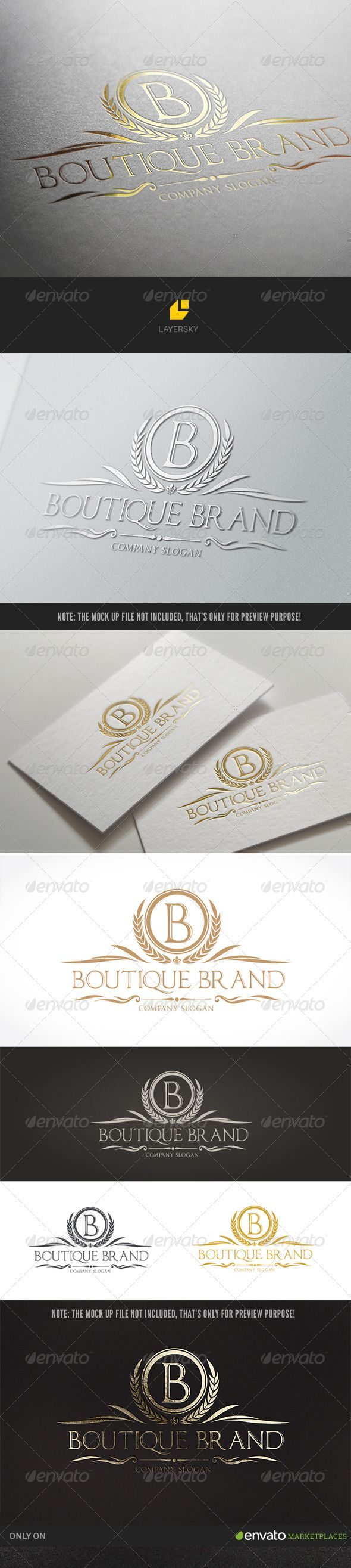 Boutique Brand — Photoshop PSD #menu #security • Available here → https://graphicriver.net/item/boutique-brand-/8238077?ref=pxcr