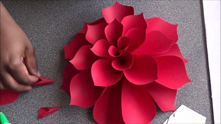 video tutorial for DIY Ariana Giant Paper Flower ... template on her blog ... but fairly regular design ...