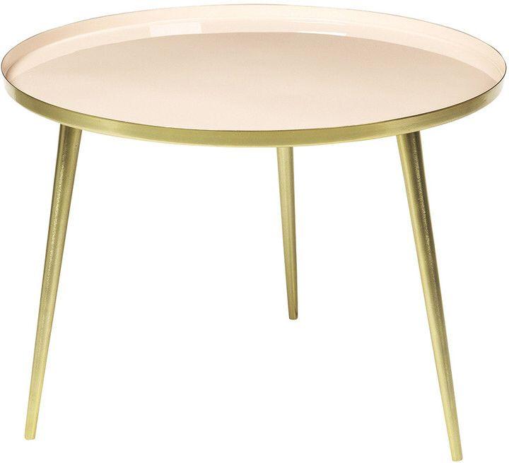 Broste Copenhagen - Jelva Side Table - Brass/Linen - Large | Woon ...