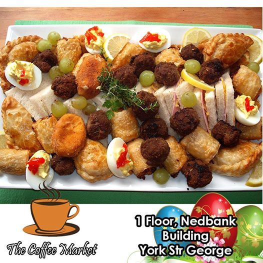Are you thinking of holding a function or just looking for a platter to serve at the office? Contact The Coffee Market George and we will arrange platters to suit your needs. Each individually made by our Chef to ensure the best quality. #catering #functions #partyplatters