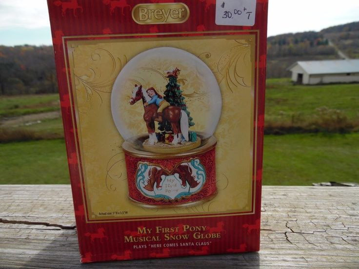 Breyer Horse Christmas MY FIRST PONY Musical Snow Globe   #700236 NIB 2015 MODEL