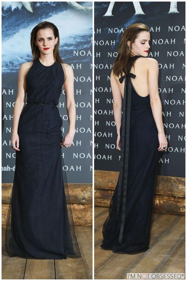 interesting detail on the back (Emma Watson - Noah Premiere)