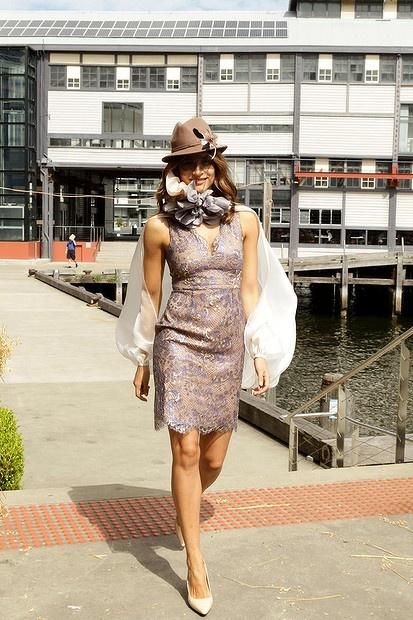 2012 Myer Autumn Winter Racing Fashion show Sydney Australia  Designer Jayson Brunsdon