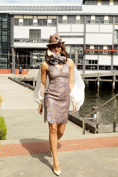 2012 Myer Autumn Winter Racing Fashion show Sydney Australia  Designer Jayson Brunsdon