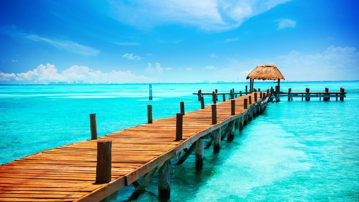 Mexico, 5k, 4k wallpaper, Cancun, The Caribbean, shore, sky (horizontal)