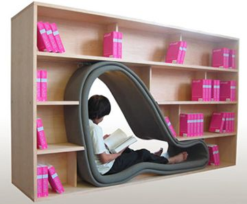 sit in your bookshelves: Bookshelves, Idea, Bookshelf Design, Caves, Reading Nooks, Books Nooks, Spaces Design, Reading Spots, Kid
