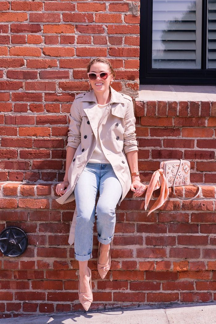 How to save money for travel  3 things we do-Gold Lion Style. Fall outfit  in San Francisco  trench coat layered over a  madewell sweater tank and  jeans with ... 1e5529749
