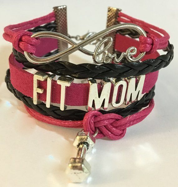 12.99$ FIT MOM Multilayered Bracelet | Motivational Fitness Jewelry - Miss Fit Boutique