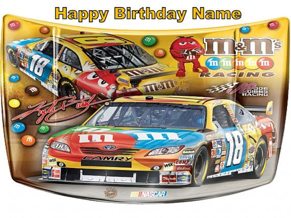 Kyle Busch Edible Image Cake Topper Tattoo Personalized