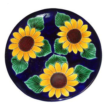 Talavera Sunflower Plate.
