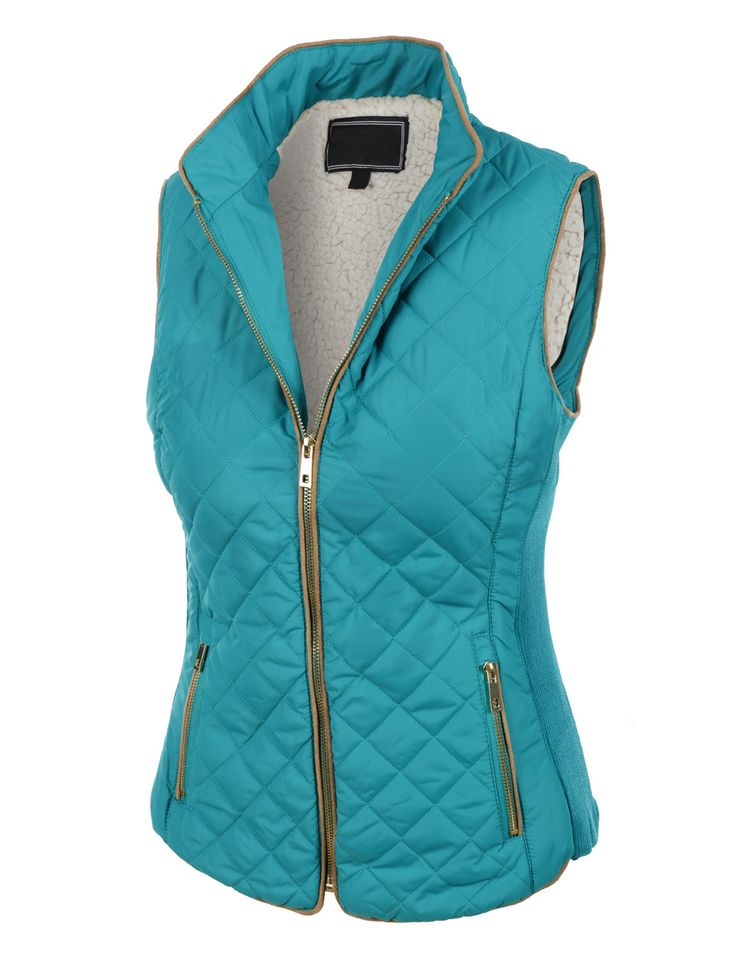 LE3NO Womens Lightweight Quilted Puffer Jacket Vest with Pockets. Scroll for more colors!!!