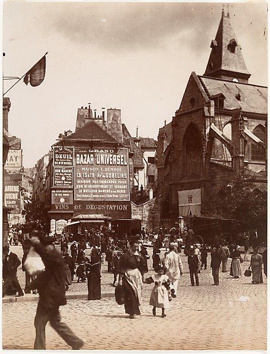 Rue Mouffetard, Paris, Eugène Atget, ca. 1900