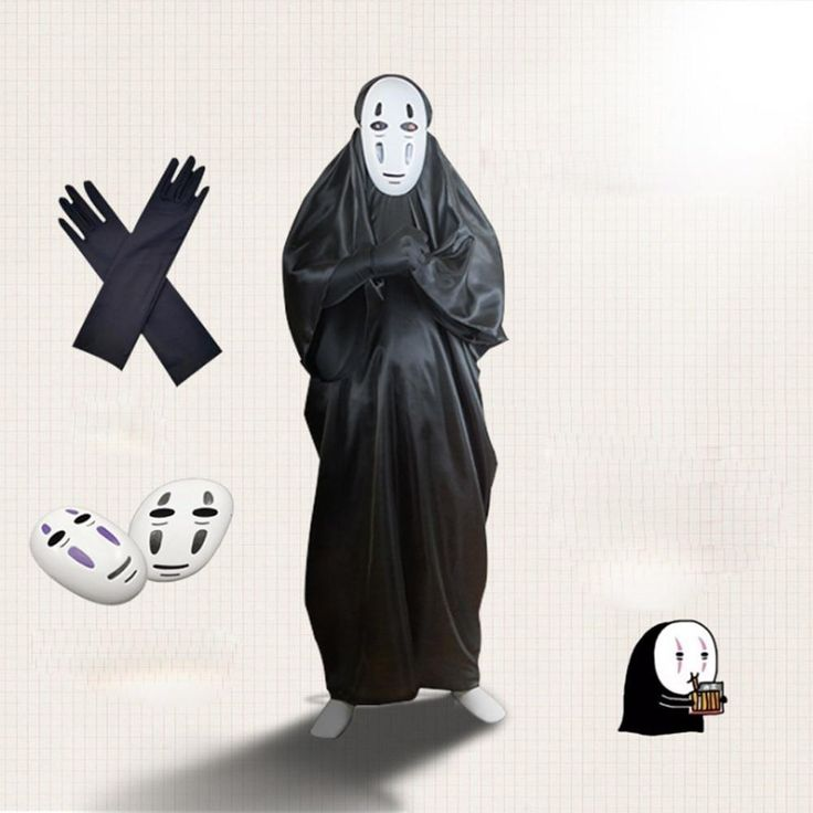 Anime faceless japanese cartoon character cosplay costumes
