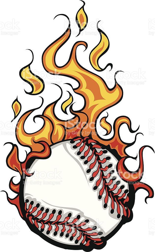 Beisbol De Bola Vector De Dibujos Animados De Softball Flaming Beisbol De Bola Vector De Dibujos Animados D Bola De Baseball Imajenes De Beisbol Beisbol Frases