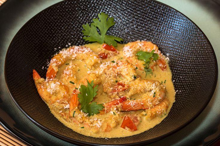 Curry thaï de crevettes coco-coriandre