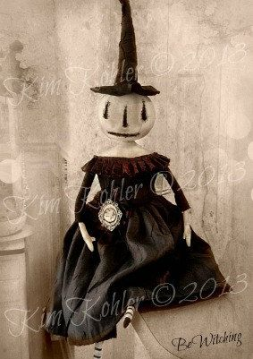 Primitive Doll Pattern PDF Halloween Witch by VeenasMercantile