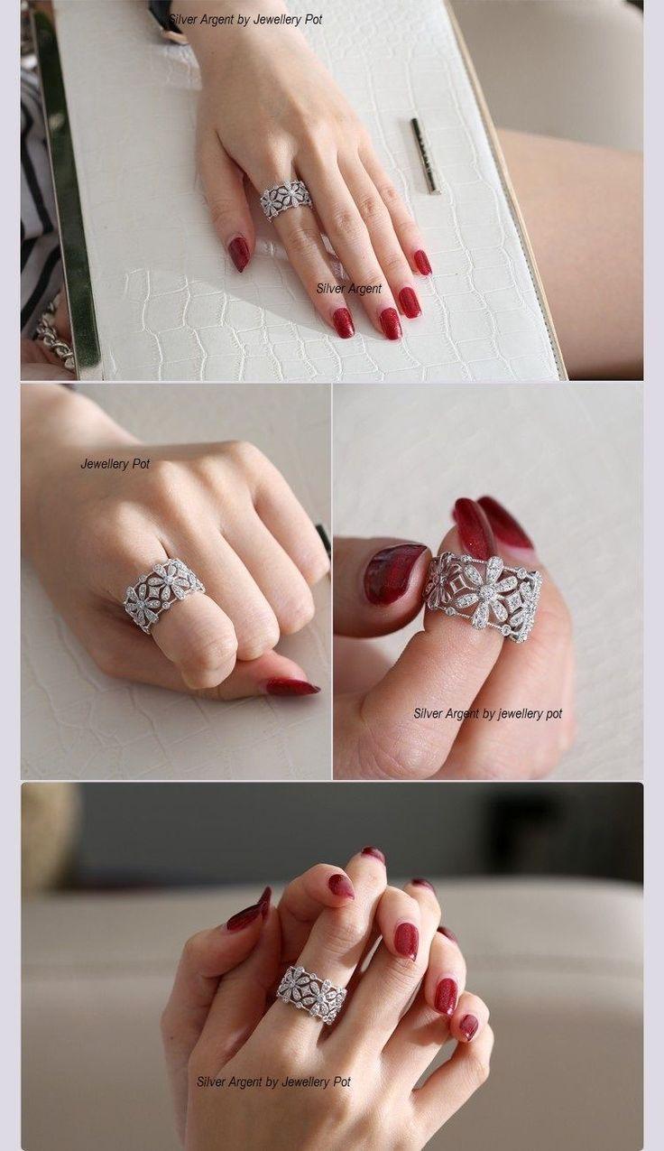 Price: $35 #925 Silver Ring#Filigree Ornate Ring # Right Hand Ring # Wedding Band #Buyable Pin # Sellable pin #