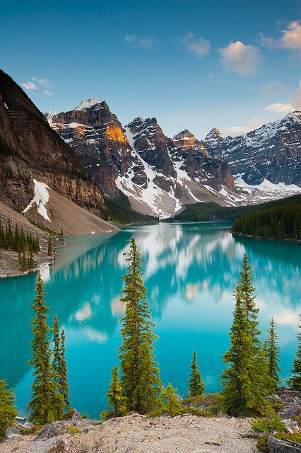 Moraine Lake - Banff National Park, Alberta, Canada     Lee and I have been to this beautiful lake.................