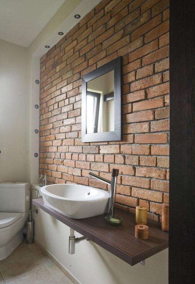 17 meilleures id es propos de salle de bains brique sur - Salle de bain brique ...