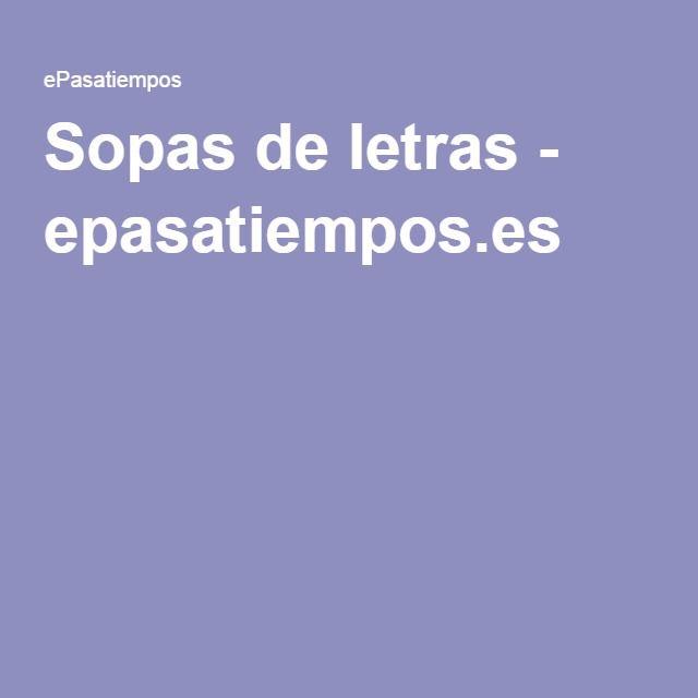 Sopas de letras - epasatiempos.es