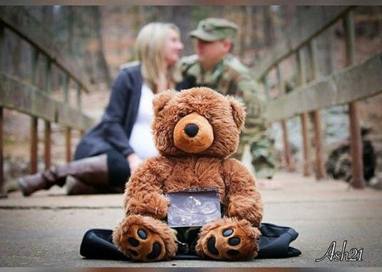 Love this military pregnancy announcement.