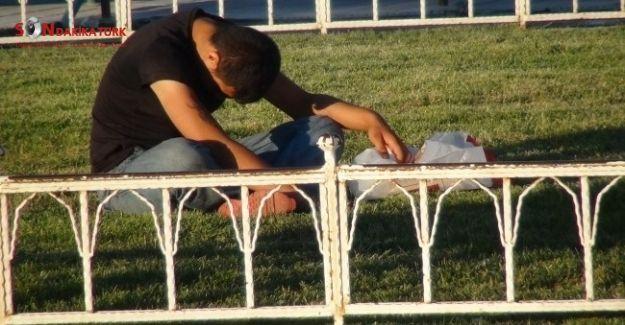 Taksim'de güpegündüz bonzai içen gençler kendinden geçti