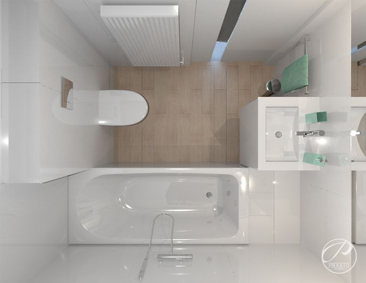 Projekt domu na Wawrze |  bathroom modern design Progetti Architektura