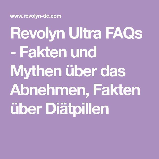Revolyn Ultra FAQs - Fakten und Mythen über das Abnehmen, Fakten über Diätpillen