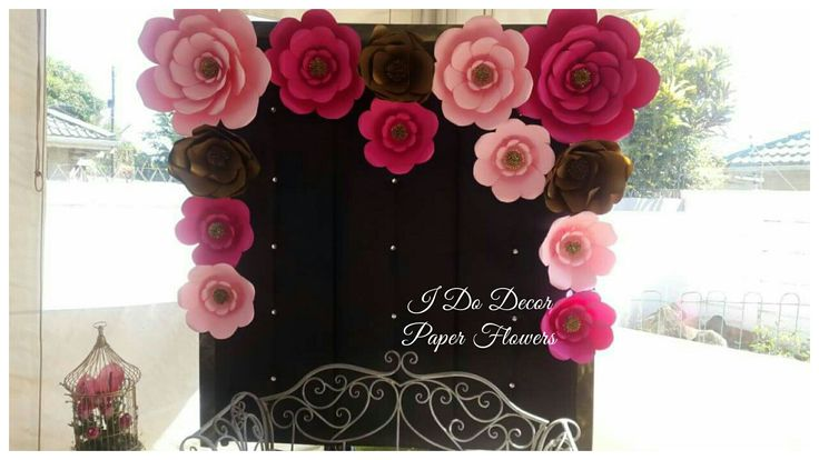 Shades of pink 2x2 paper flower wall. Durban paper flowers