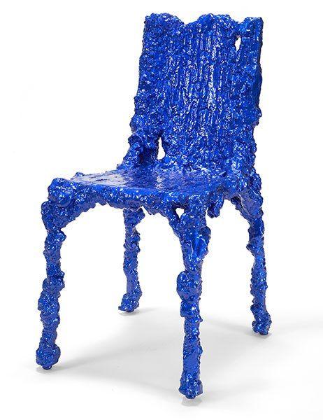 colorways of Alufoil chair. Artist Chris Schanck, Fabricator Lon Gauthier