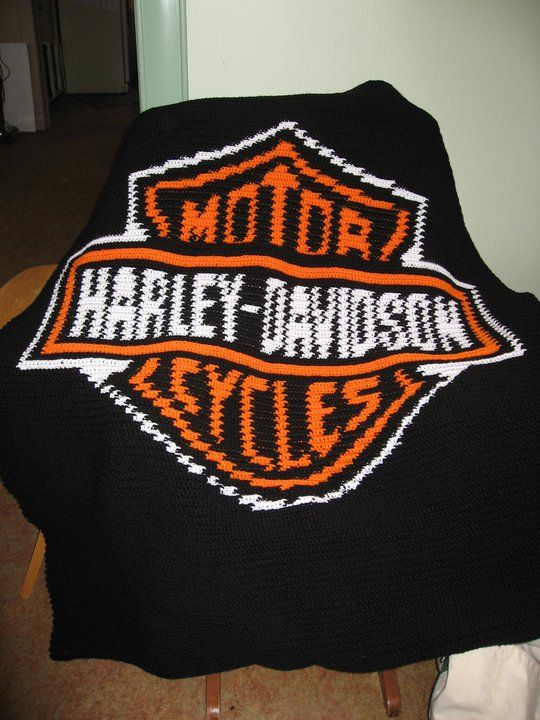 Harley Davidson Afghan I Made Two Of These And I Will