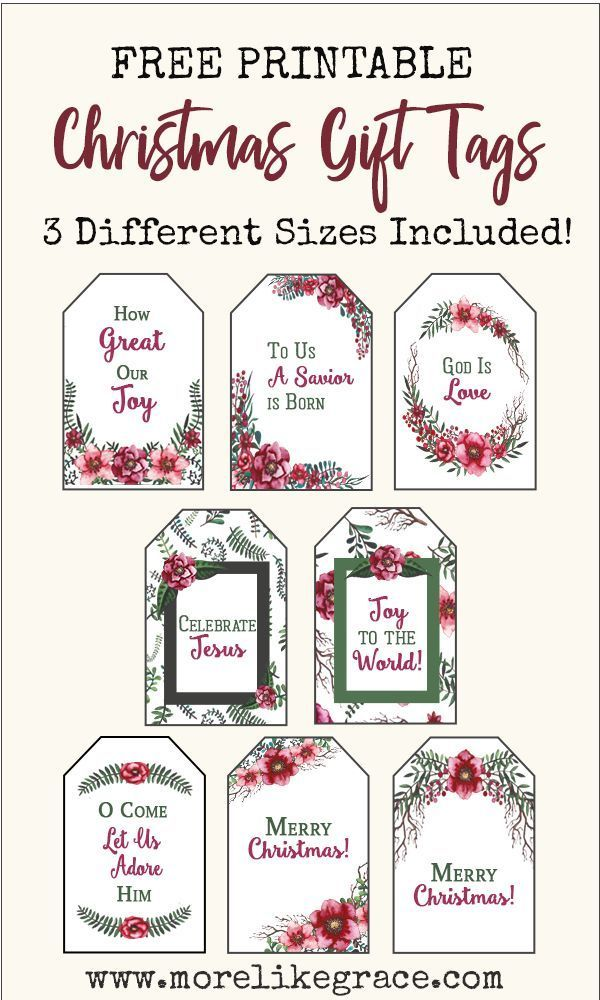 Christmas Gift Tags Free Printable More Like Grace Free Printable Christmas Gift Tags Christmas Gift Tags Free Christmas Gift Tags Printable