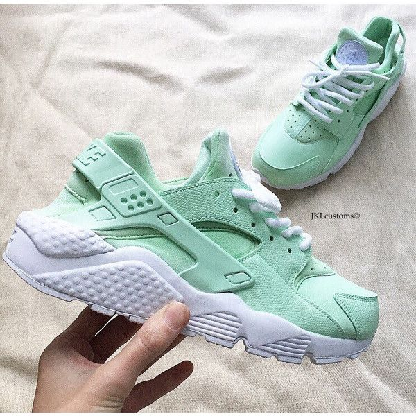 82c19f0715cd8 Mint Nike Huarache Nike Huarache Unisex Mint Mint Green Huarache Nike...  ($177) ❤ liked on Polyvore featuring shoes, athletic shoe… | My Polyvore  Finds in ...