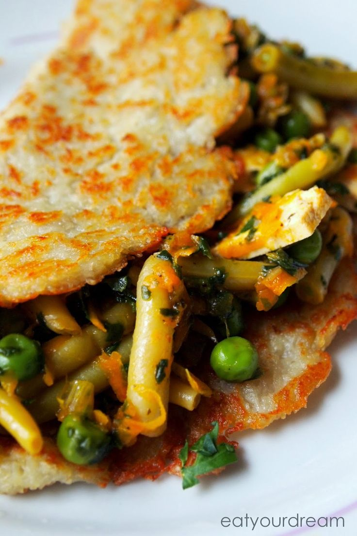 potato pancakes with vegetables