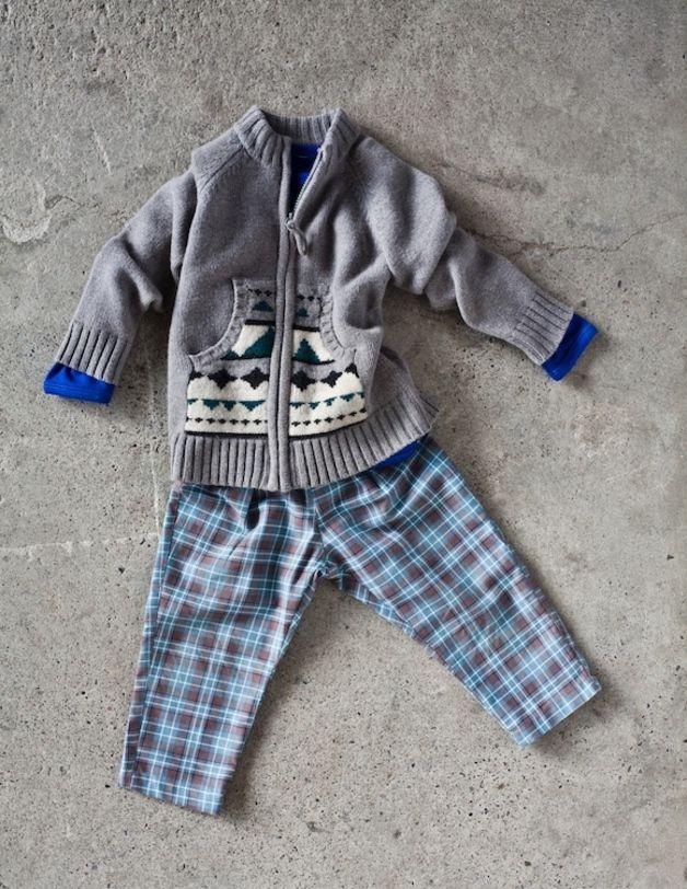 Ropa infantil - Pantalón a cuadros 100% algodón - hecho a mano en DaWanda.es