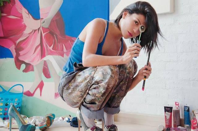 La artista Veronica Muñoz uno de los Jurados de la modalidad Pintura y Modalidad Transformación  Concurso Craneandola 2014