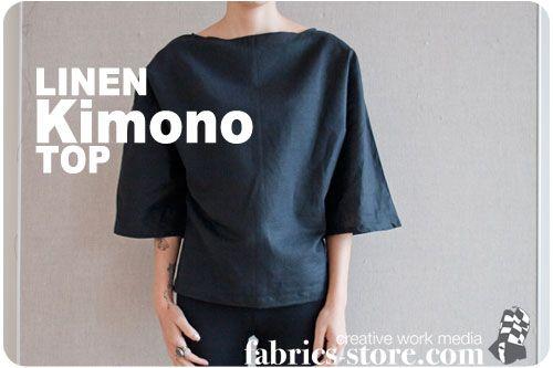 Linen Kimono Top Tutorial at http://www.fabrics-store.com/blog/2011/10/27/linen-kimono-top/ check out their blog here: http://www.fabrics-store.com/blog/
