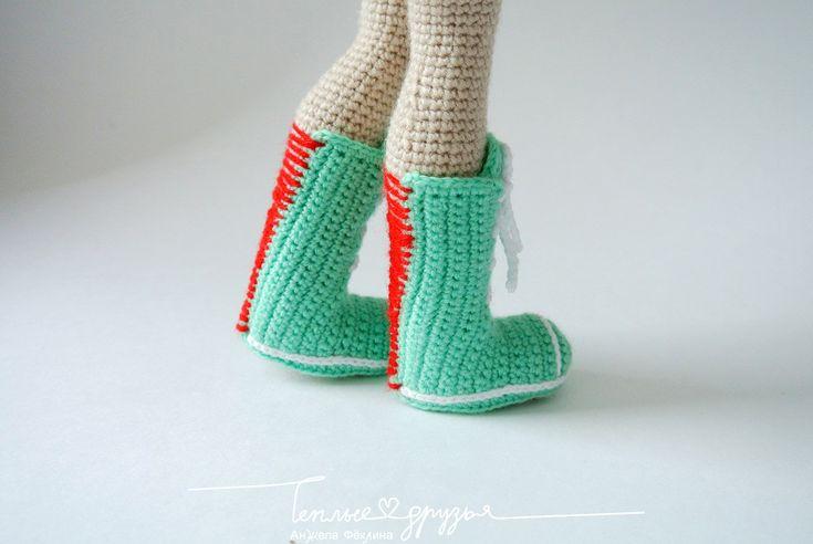 Amigurumi doll boots. (Inspiration).