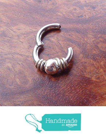 Hinged Segment Ring Wrapped 925 Sterling Silver Bead 16g,14g - Diameter 6mm,8mm,10mm https://www.amazon.com/dp/B073ZD6Q6G/ref=hnd_sw_r_pi_dp_k7iBzbRSNQ531 #handmadeatamazon