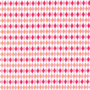 Michael Miller House Designer - Mod Basics - Mini Harlequin in Watermelon