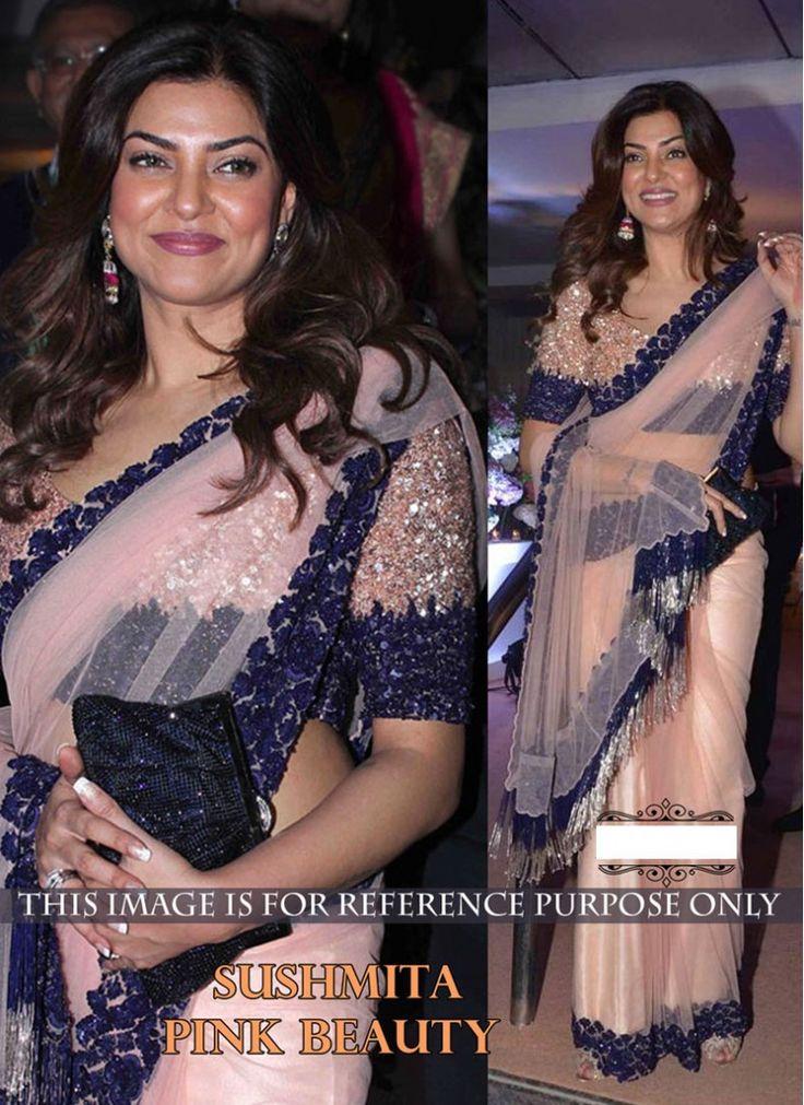 Sushmita Sen Net Designer Partywear  Saree