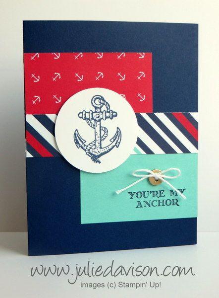 Stampin' Up! Guy Greetings Nautical Card