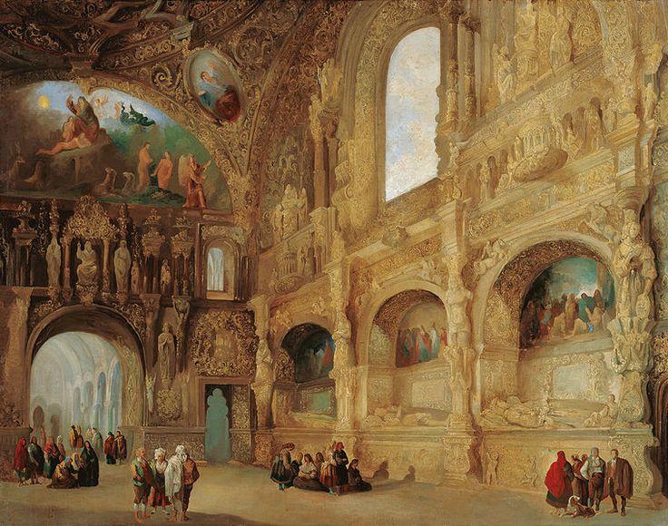 File:Genaro Pérez Villaamil The Chapel of the Benavente Family in Medina de Rioseco.jpg