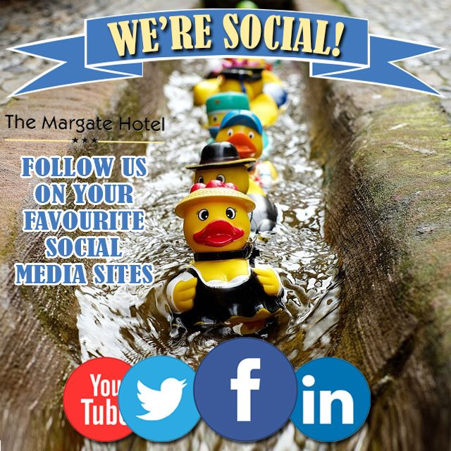 Margate Hotel HAS GONE SOCIAL! Like, follow, share, repost and comment! We want to hear and see how you are enjoying your stay with us in Margate!  Connect with us: Facebook http://bit.ly/mhfbpg  Twitter http://bit.ly/MhotelTW  Youtube http://bit.ly/MargateHYT  Google+ http://bit.ly/1I8t95c  Instagram http://bit.ly/1MBeNMD  LinkedIn http://bit.ly/mhotellkd  Pinterest http://bit.ly/mhpin  Tripadvisor http://bit.ly/mhotelta   http://bit.ly/1hXhmeE
