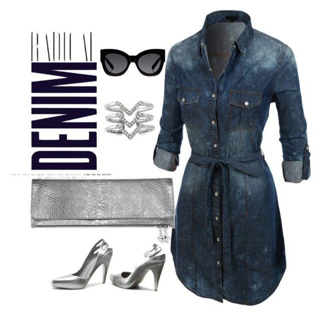 """""""Silver Denim look"""" by sukienkanaweekend on Polyvore"""