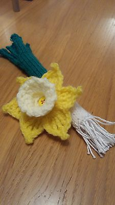 Crochet Welsh St David's Day, Rugby Daffodil & Leek Brooch Pins 10% Marie Curie