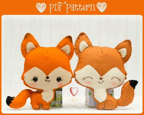 Foxes in love PDF Pattern by Noialand on Etsy