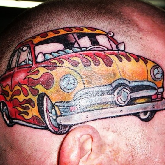 11 best tattoos images on pinterest hot rod tattoo hot rods and car tattoos. Black Bedroom Furniture Sets. Home Design Ideas